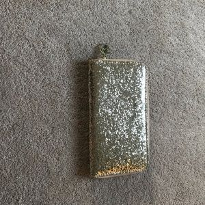 Gold sparkly clutch/wallet